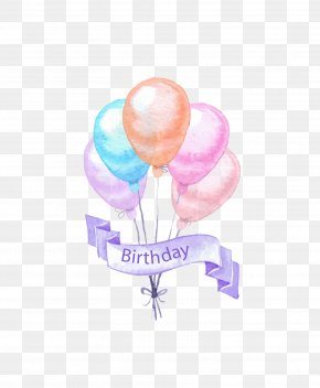Painting Birthday Party Elements - Birthday Cake Party PNG