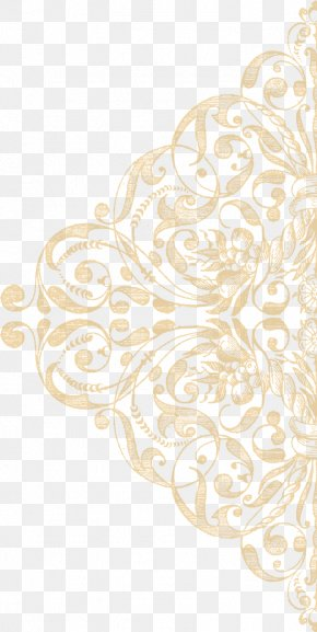 Gold Lace Texture Ornament - Lace Texture Mapping Pattern PNG