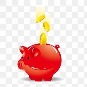 Pig Saving Money,Save,coin,Red Pig Save Money - Piggy Bank Euclidean Vector Saving PNG