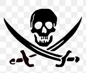 Skull - Skull And Crossbones Skull And Bones Jolly Roger PNG