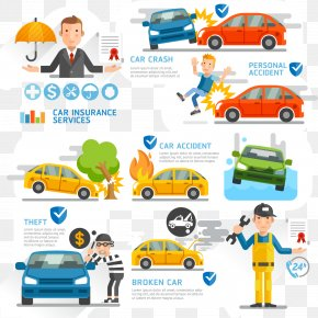 Fashion Automobile Insurance Business Vector Material, - Vehicle Insurance Infographic Health Insurance PNG