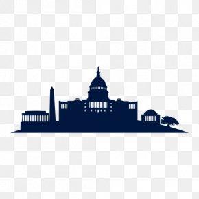 Cityscape - Washington, D.C. Skyline Silhouette Clip Art PNG