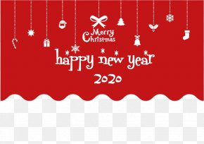Rectangle Red - Happy New Year 2020 Christmas PNG