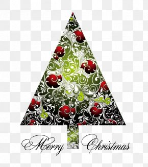 Christmas Tree Silhouette Pattern Design Material - Christmas Tree PNG