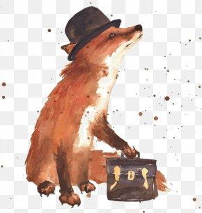 Fox - Art Fox Painting Drawing PNG