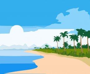 Hospitality Management Cliparts - Hawaiian Beaches Sandy Beach Florida Beach Shore Clip Art PNG