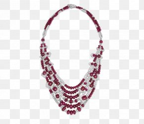 Creative Necklace - Ruby Necklace Earring Jewellery Pearl PNG
