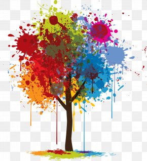 Graphic Design - Tree Color Graphic Design PNG