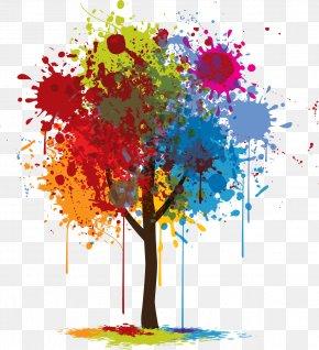 Graphic Design - Tree Color Graphic Design PNG