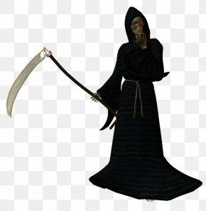 The Reaper - Skull And Crossbones Death REAPER Art PNG