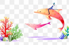 Whale - Underwater World, Singapore Coral Cartoon Illustration PNG