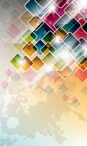 Colorful Geometric PNG