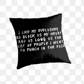 Long Eyelashes - Throw Pillows Cushion Room Bedding PNG