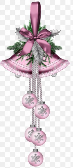 Ribbon Decorations - Candy Cane Christmas Ornament Clip Art PNG