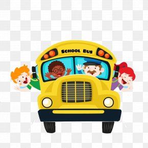 School Bus - School Cartoon Student PNG