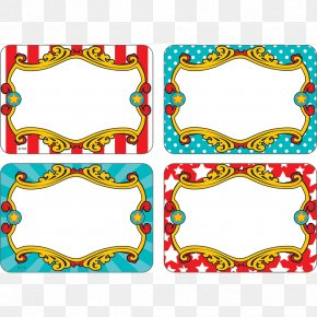 Carnival Theme - Paper Carnival Name Tags Label Sticker PNG