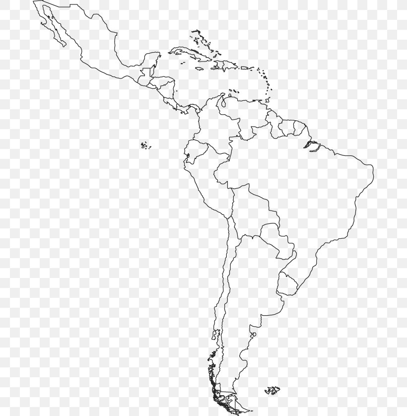 South America Latin America Blank Map Central America, PNG ...