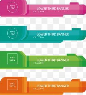 Four-color Business Banner - Web Banner Advertising Billboard PNG