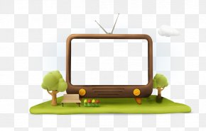 Hand Painted TV Illustration Material - Cartoon Television Download Illustration PNG