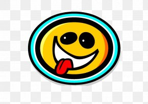 Tongue Smile - T-shirt Smiley LOL Face PNG