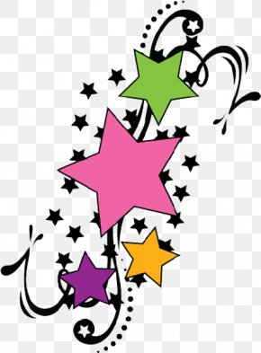 Shooting Star Outline - Tattoo Star Clip Art PNG