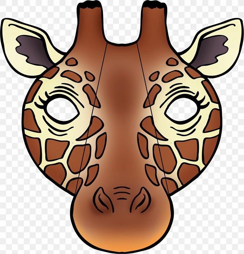Giraffe Mask Coloring Book Halloween Clip Art, PNG ...
