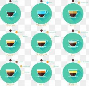 Vector Circular Coffee Cup Icon - Irish Coffee Iced Coffee Coffee Cup Euclidean Vector PNG