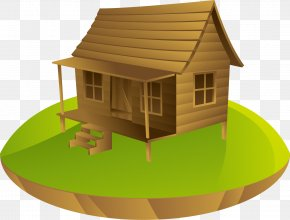 A Log Cabin In The Woods - House Cottage Log Cabin PNG