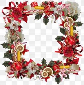 Christmas Wreath Frame - Christmas Tree Christmas Decoration PNG