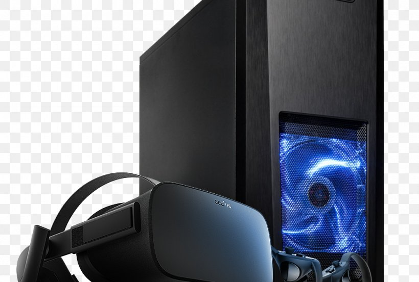 Computer Cases & Housings Oculus Rift Graphics Cards & Video Adapters Gaming Computer Virtual Reality, PNG, 1000x675px, Computer Cases Housings, Atx, Audio, Audio Equipment, Computer Accessory Download Free
