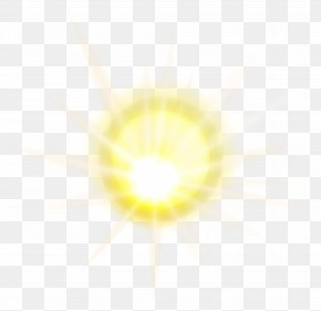 Sun Effect Clip Art Image - Light Yellow Circle Pattern PNG