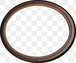 Brown Wooden Oval Ring - Ellipse Circle Disk PNG