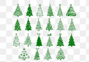 Green Christmas Tree - Christmas Tree Santa Claus New Year Tree PNG