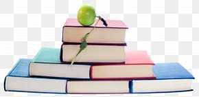 Books With Apple - Student Learning Skill Homeschooling Teacher PNG