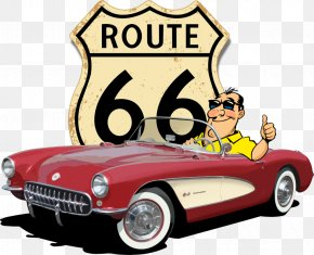 Route - Los Angeles U.S. Route 66 Guam Route 66 Corvette Restorations Road PNG