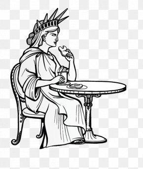 Statue Of Liberty To Eat And Drink - Statue Of Liberty Drawing Illustration PNG