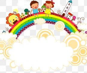Rainbow Bridge - Cartoon Clip Art PNG