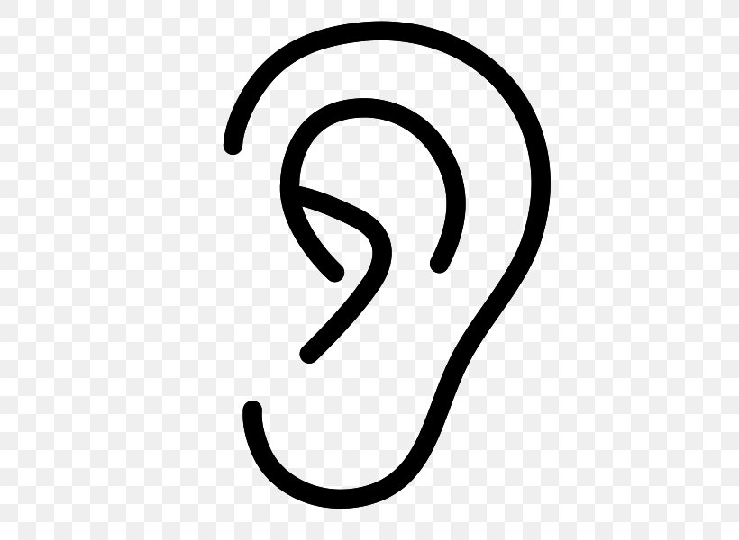 Middle Ear And Mastoid Surgery Hearing Clip Art, PNG, 600x600px, Ear, Area, Black And White, Brand, Headset Download Free