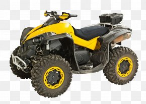 Yellow Off-road Vehicle - Car Scooter Stock Photography All-terrain Vehicle Motorcycle PNG