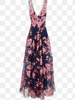 V,Collar Dress - Evening Gown Dress Marchesa Ball Gown PNG