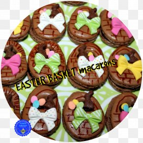 Macarons - Muffin Cupcake Easter Basket Food Chocolate PNG