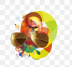 Summer Sunglasses Poster - Poster Graphic Design Sunglasses PNG