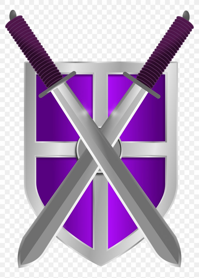 Shield Sword Weapon Knight Clip Art, PNG, 1287x1797px, Knight, Library, Product Design, Public Domain, Purple Download Free