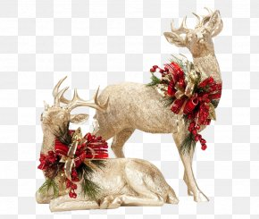 Santa Claus Fawn - Christmas Ornament PNG
