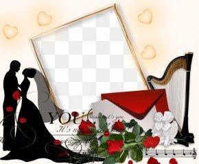 Romantic Couples Wedding Album - Wedding Romance Picture Frame PNG