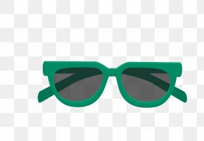 Vector Blue Sun Sunglasses Lady - Summer Icon PNG
