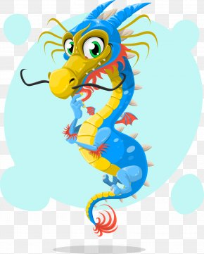Chinese Dragon,Cartoon,lovely - T-shirt Chinese Zodiac Brain Tiger PNG