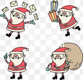 Flat Santa Claus - Santa Claus Christmas Decoration Gift Clip Art PNG