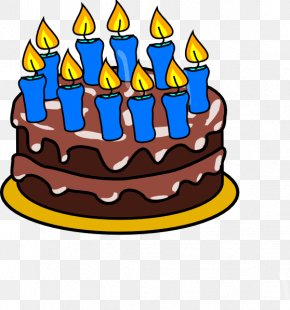 Birthday Cake Cartoon - Birthday Cake Cupcake Icing Clip Art PNG
