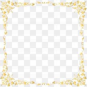 Decorative Transparent Border Image - Gold Frame Clip Art PNG